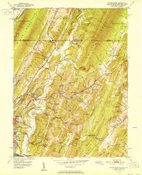 Download a high-resolution, GPS-compatible USGS topo map for Evitts Creek, MD (1951 edition)