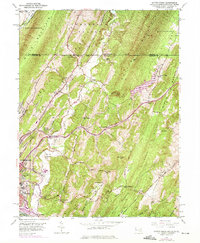 Download a high-resolution, GPS-compatible USGS topo map for Evitts Creek, MD (1975 edition)