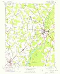 Download a high-resolution, GPS-compatible USGS topo map for Federalsburg, MD (1976 edition)