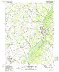 Download a high-resolution, GPS-compatible USGS topo map for Federalsburg, MD (1988 edition)