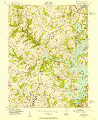 Download a high-resolution, GPS-compatible USGS topo map for Finksburg, MD (1955 edition)