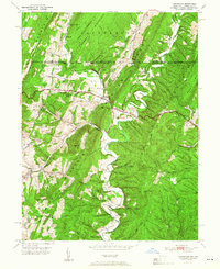 Download a high-resolution, GPS-compatible USGS topo map for Flintstone, MD (1951 edition)