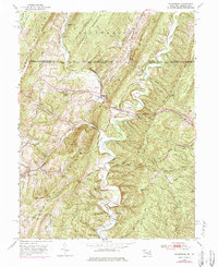 Download a high-resolution, GPS-compatible USGS topo map for Flintstone, MD (1984 edition)