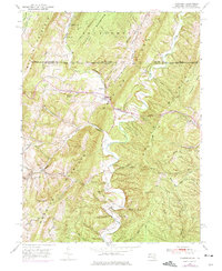 Download a high-resolution, GPS-compatible USGS topo map for Flintstone, MD (1975 edition)