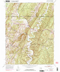 Download a high-resolution, GPS-compatible USGS topo map for Flintstone, MD (1990 edition)