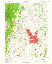 Download a high-resolution, GPS-compatible USGS topo map for Frederick, MD (1965 edition)