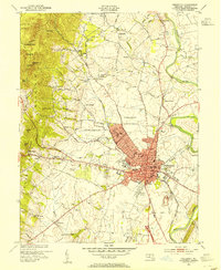 Download a high-resolution, GPS-compatible USGS topo map for Frederick, MD (1954 edition)