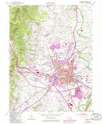 Download a high-resolution, GPS-compatible USGS topo map for Frederick, MD (1986 edition)