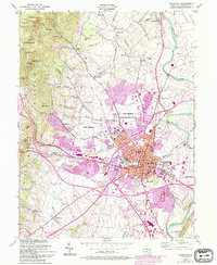Download a high-resolution, GPS-compatible USGS topo map for Frederick, MD (1994 edition)