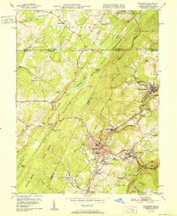 Download a high-resolution, GPS-compatible USGS topo map for Frostburg, MD (1951 edition)