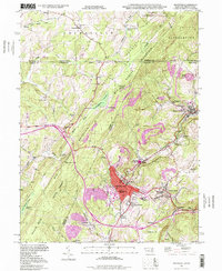 Download a high-resolution, GPS-compatible USGS topo map for Frostburg, MD (1999 edition)