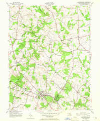 Download a high-resolution, GPS-compatible USGS topo map for Gaithersburg, MD (1965 edition)