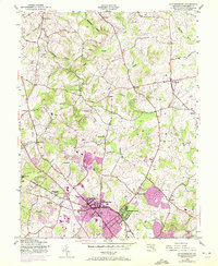 Download a high-resolution, GPS-compatible USGS topo map for Gaithersburg, MD (1972 edition)