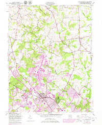 Download a high-resolution, GPS-compatible USGS topo map for Gaithersburg, MD (1979 edition)