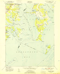 Download a high-resolution, GPS-compatible USGS topo map for Gunpowder Neck, MD (1951 edition)