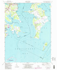 Download a high-resolution, GPS-compatible USGS topo map for Gunpowder Neck, MD (1987 edition)