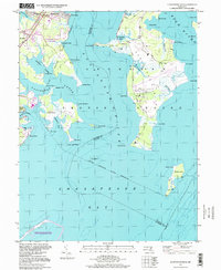 Download a high-resolution, GPS-compatible USGS topo map for Gunpowder Neck, MD (1999 edition)