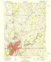 Download a high-resolution, GPS-compatible USGS topo map for Hagerstown, MD (1954 edition)