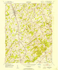 Download a high-resolution, GPS-compatible USGS topo map for Hampstead, MD (1954 edition)