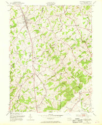 Download a high-resolution, GPS-compatible USGS topo map for Hampstead, MD (1969 edition)