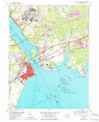 Download a high-resolution, GPS-compatible USGS topo map for Havre De Grace, MD (1984 edition)