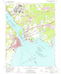 Download a high-resolution, GPS-compatible USGS topo map for Havre De Grace, MD (1977 edition)