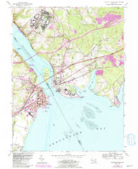 Download a high-resolution, GPS-compatible USGS topo map for Havre De Grace, MD (1991 edition)