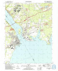 Download a high-resolution, GPS-compatible USGS topo map for Havre De Grace, MD (1993 edition)
