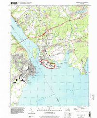 Download a high-resolution, GPS-compatible USGS topo map for Havre De Grace, MD (2000 edition)