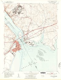 Download a high-resolution, GPS-compatible USGS topo map for Havre De Grace, MD (1955 edition)