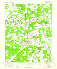 Download a high-resolution, GPS-compatible USGS topo map for Hebron, MD (1962 edition)