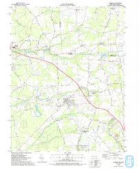 Download a high-resolution, GPS-compatible USGS topo map for Hebron, MD (1992 edition)
