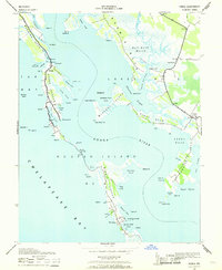 Download a high-resolution, GPS-compatible USGS topo map for Honga, MD (1969 edition)