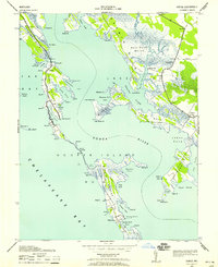 Download a high-resolution, GPS-compatible USGS topo map for Honga, MD (1958 edition)