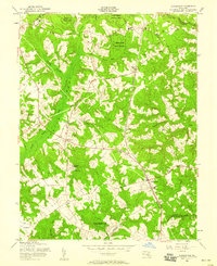 Download a high-resolution, GPS-compatible USGS topo map for Hughesville, MD (1958 edition)