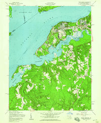 Download a high-resolution, GPS-compatible USGS topo map for Indian Head, MD (1959 edition)