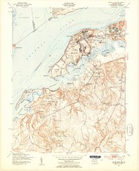 Download a high-resolution, GPS-compatible USGS topo map for Indian Head, MD (1954 edition)