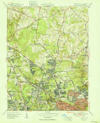 Download a high-resolution, GPS-compatible USGS topo map for Kensington, MD (1951 edition)
