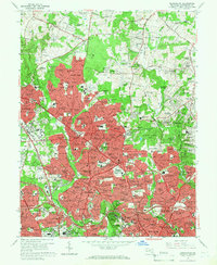 Download a high-resolution, GPS-compatible USGS topo map for Kensington, MD (1966 edition)