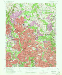 Download a high-resolution, GPS-compatible USGS topo map for Kensington, MD (1972 edition)