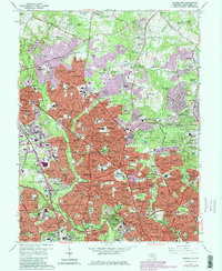Download a high-resolution, GPS-compatible USGS topo map for Kensington, MD (1979 edition)