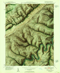 Download a high-resolution, GPS-compatible USGS topo map for Kitzmiller, MD (1953 edition)