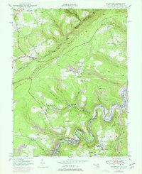 Download a high-resolution, GPS-compatible USGS topo map for Kitzmiller, MD (1977 edition)