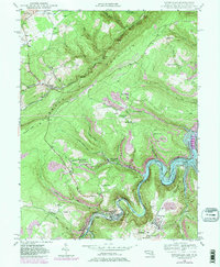 Download a high-resolution, GPS-compatible USGS topo map for Kitzmiller, MD (1984 edition)