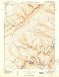Download a high-resolution, GPS-compatible USGS topo map for Kitzmiller, MD (1950 edition)
