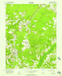 Download a high-resolution, GPS-compatible USGS topo map for La Plata, MD (1958 edition)