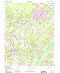Download a high-resolution, GPS-compatible USGS topo map for La Plata, MD (1985 edition)