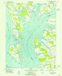 Download a high-resolution, GPS-compatible USGS topo map for Langford Creek, MD (1955 edition)