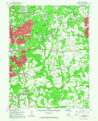 Download a high-resolution, GPS-compatible USGS topo map for Lanham, MD (1966 edition)