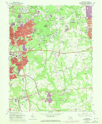 Download a high-resolution, GPS-compatible USGS topo map for Lanham, MD (1972 edition)